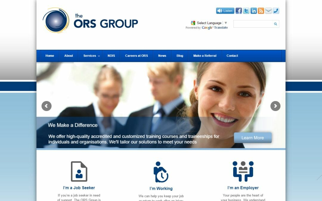 The ORS Group website upgrade