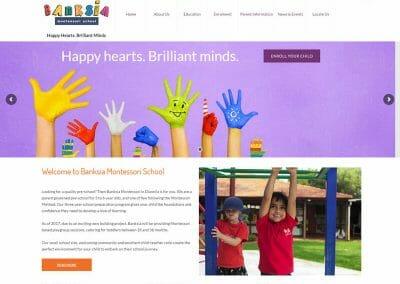 Banksia Montessori School Website Redesign