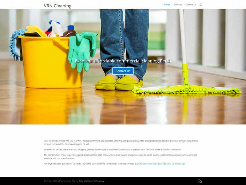 New website for VRN Cleaning