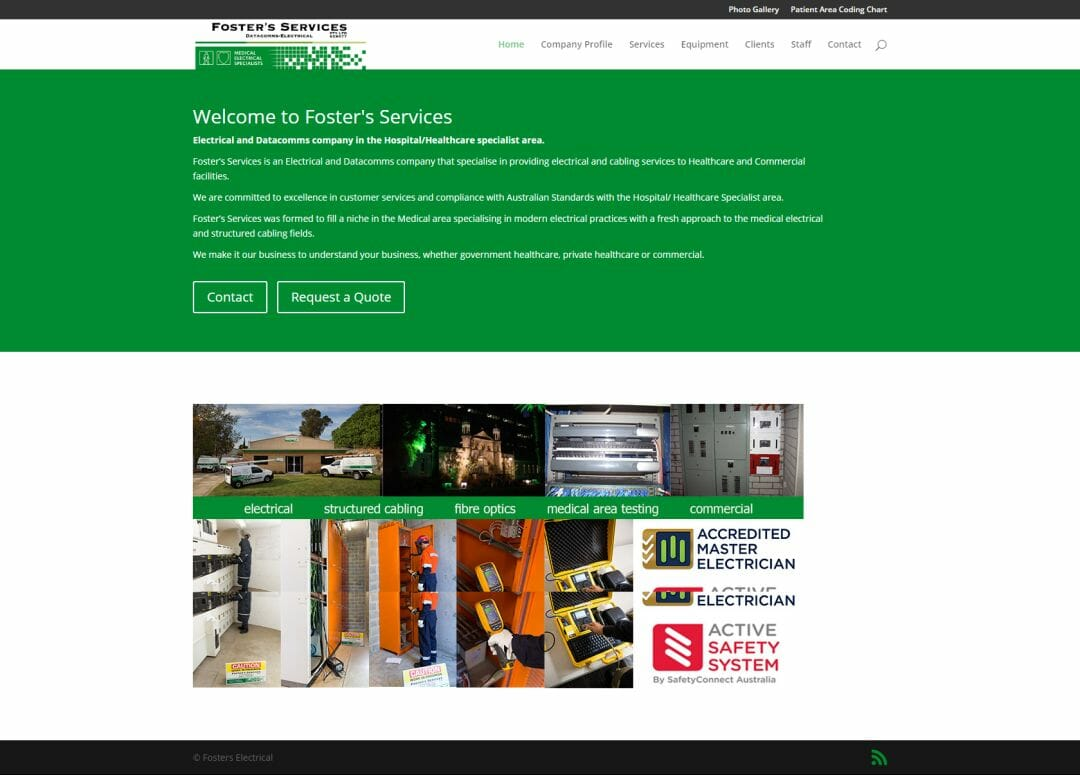 Fosters Electrical Website Redevelopment